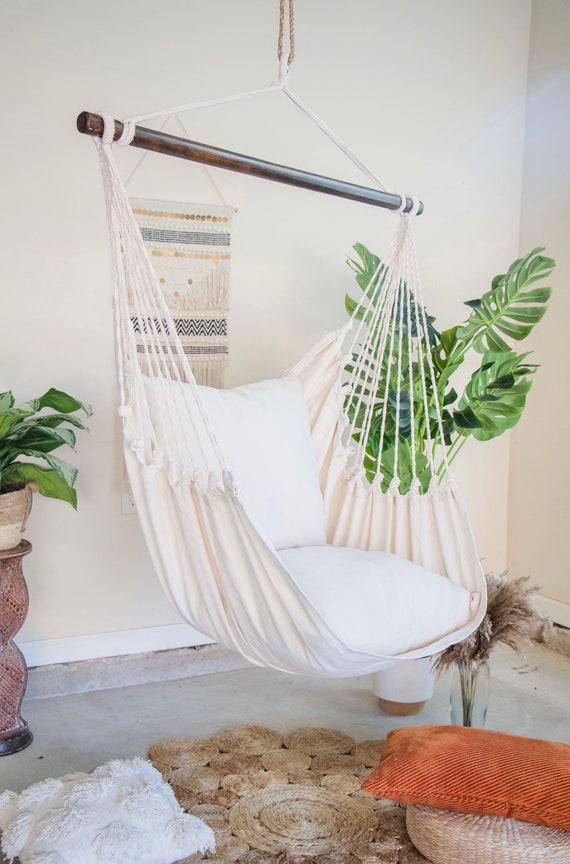 Indoor Hanging Chair Hammock Swing Chair Indoor Swing Boho Etsy