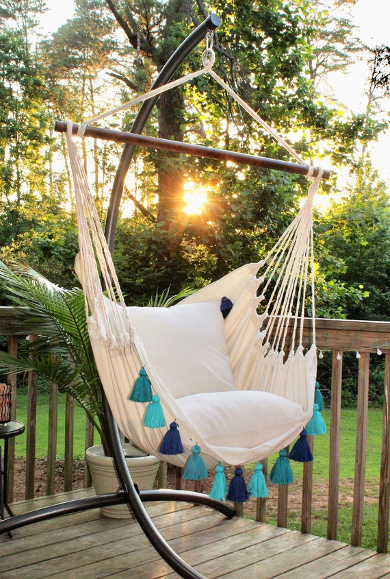 Hammock Swing Chair Hanging Chair Porch Swing Indoor Etsy