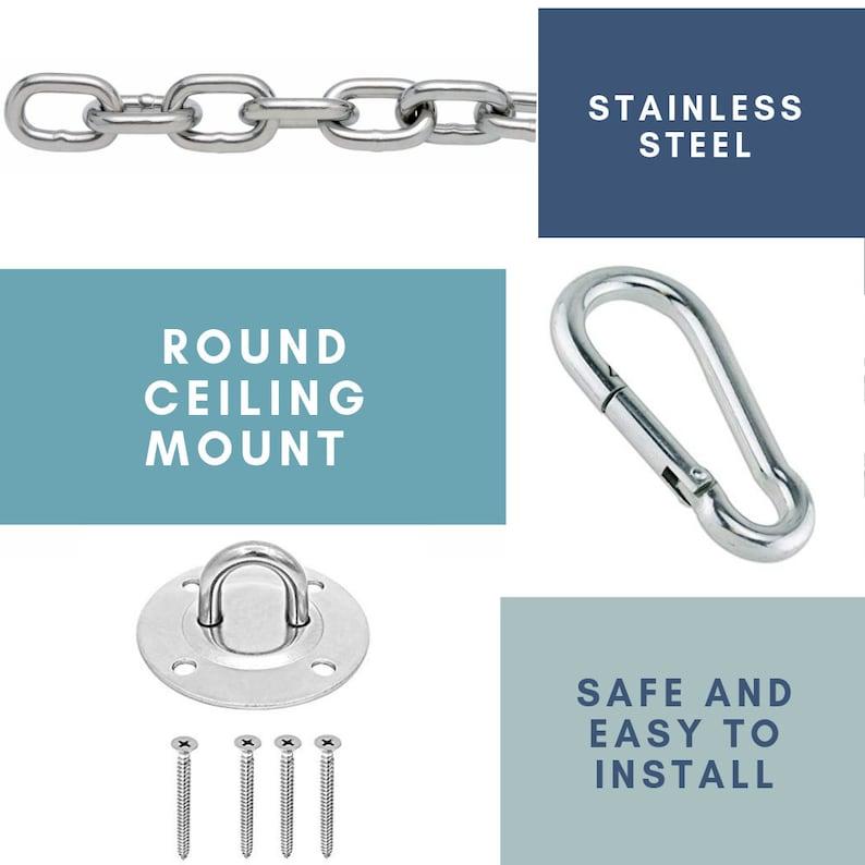 Hammock Chair Indoor Hanging Kit Hardware Stainless Steel Ceiling Mount