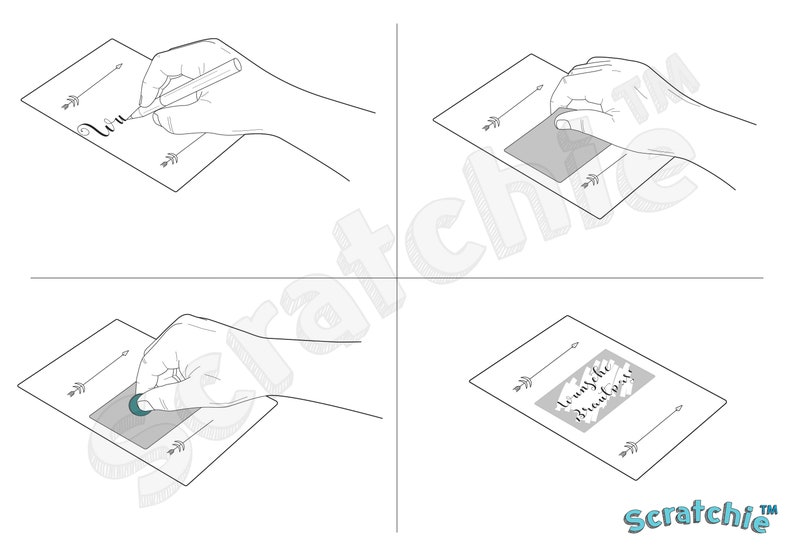 Scratch Off Stickers 50 Pack 30x10mm