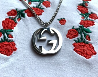 6942424bd Silver Plated GG Gucci Necklace