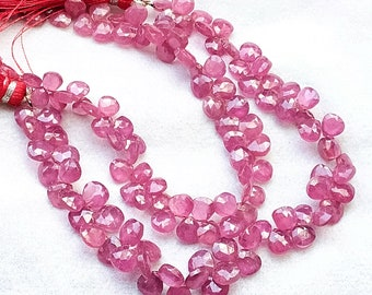 7.5-9 mm 19 pcs Focal Beads Natural Amazonite  briolette faceted hearts8*12  inch half strand-AAA+