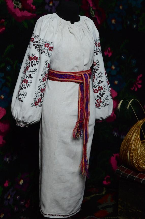 Reserved Nice FLORAL stripes!! Ukrainian antique … - image 2