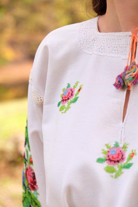 BEADWORK on linen dress! Pure linen homespun dres… - image 10