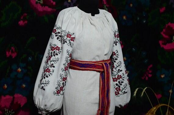 Reserved Nice FLORAL stripes!! Ukrainian antique … - image 3