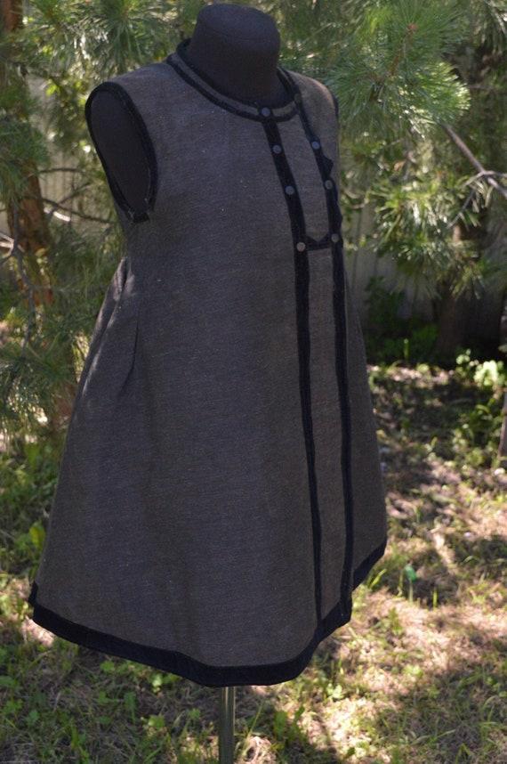 Noble antique vest Ukrainian vest Velvet decorated