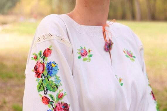BEADWORK on linen dress! Pure linen homespun dres… - image 9