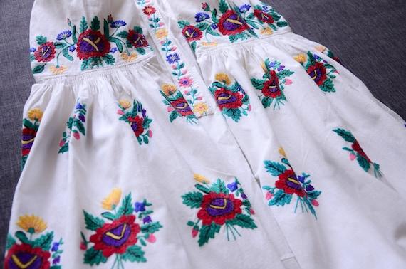 Folk Shirt Handmade Embroidery vyshyvanka Antique