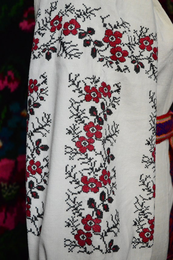 Reserved Nice FLORAL stripes!! Ukrainian antique … - image 5