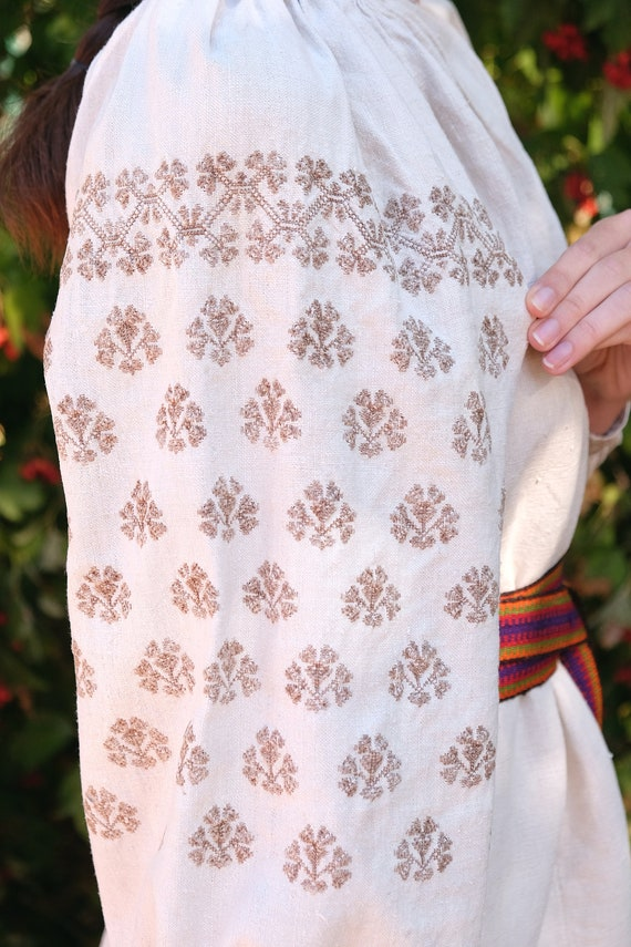Natural dye!!! UNIQUE hemp dress Unique pattern Ve