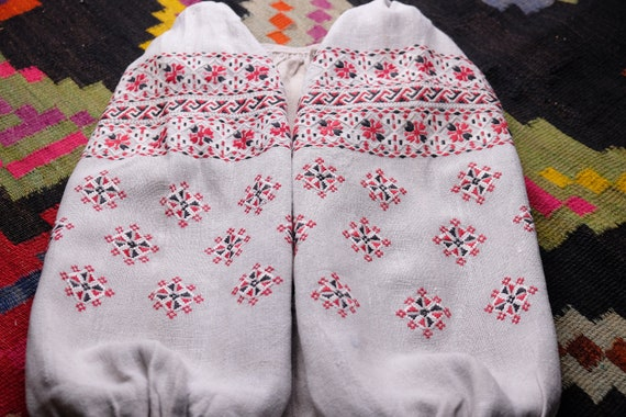 RESERVED Ancient Chernigiv dress Pure linen homesp