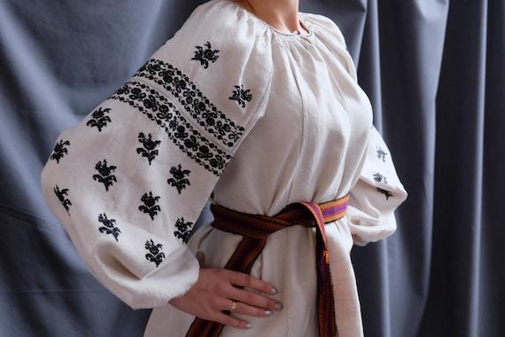 BLACK embroidered blouse!! Hemp blouse Ukrainian e