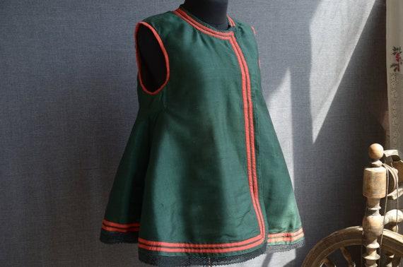 Rare GREEN antique vest! Ukrainian vest Sleeveless