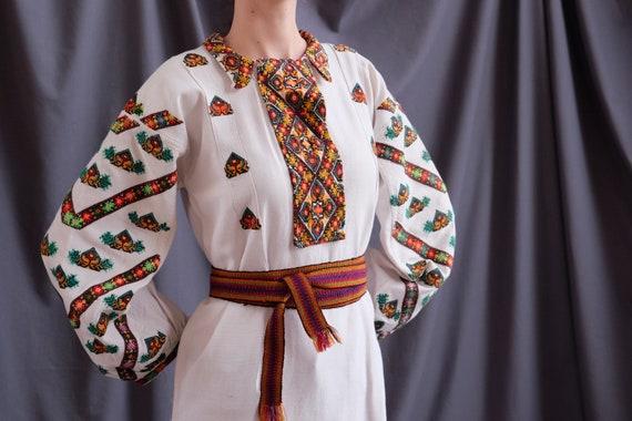 BEAUTY!!!! Pure linen homespun dress Saturated emb