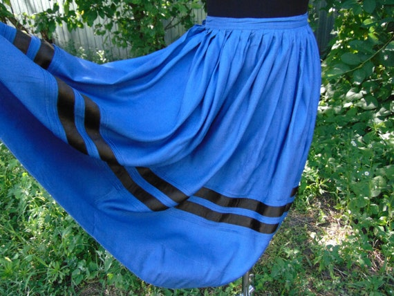 Ukrainian BLUE skirt Vintage skirt Antique skirt A