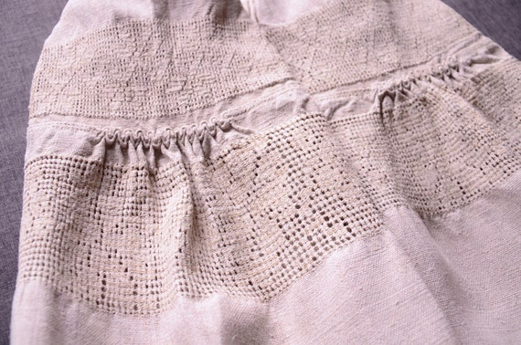Lace dress Hemp lace dress Beautiful antique dress