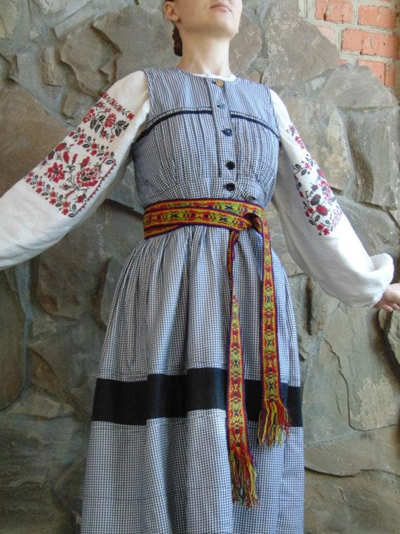 Antique blue sundress Vintage sundress Ukrainian s