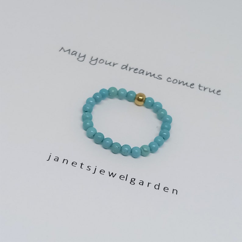 Blue Bead Ring