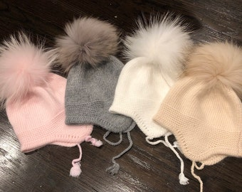 Girl's Accessories Apparel Accessories Cokk Winter Hat And Scarf Set For Girls High Quality Knitted Cap Kids Hat Ear Flaps Thick Warm Boy Children Hat Set With Pompom