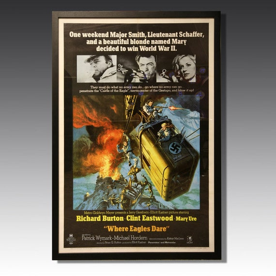 Original 'Where Eagles Dare' - Castle of the Eagle Film poster