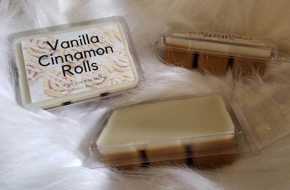 Scent Brick Cinnamon Roll and Vanilla Wax Mel 3.2 OuncePack of Soy Wax Tarts