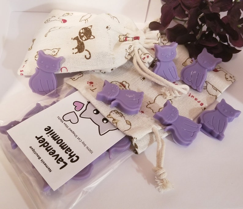 Lavender Chamomile Cat Shaped 100/% Soy Wax Melts
