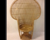 Hand crafted, Twist base, Retro, wicker, Peacock Chair. Indoor use, intricate design. Boho. Emmanuelle Chair.