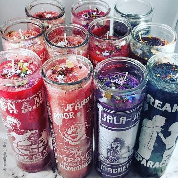 7 day Love spell candle, Love Drawing Hoodoo Ritual Candle, Come to Me  candle spell, Love spell candle, Ven a mi veladora, Hechizo de amor