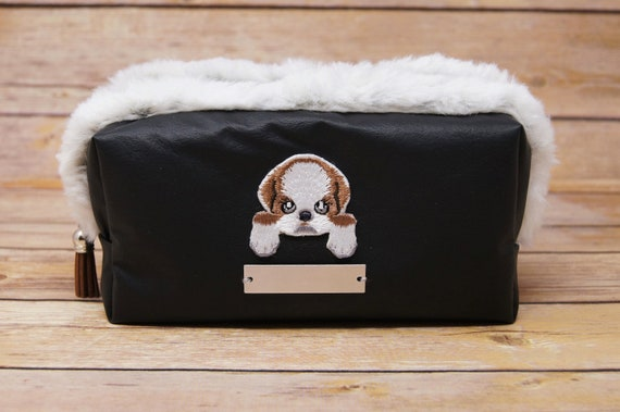 Personalized Cosmetic Bag. Black Customized Makeup Bag. Great  0e9a9d06eeae2