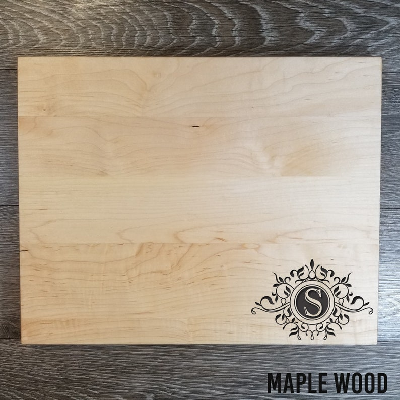 Personalized Cutting Board Housewarming Gift Anniversary Gift Engraved Cutting Board Holiday Gift Wedding Gift FlourishS#006
