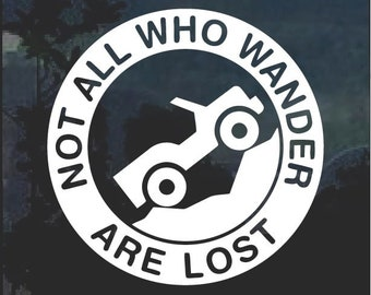 5.8 Inches Diameter with White Graphics for Rear Glass Window Wrenches /& Bones White Vinyl Decal Car Sticker for Jeep Enthusiasts Not All Who Wander are Lost