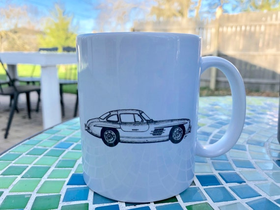 PERSONALISE IT! MERCEDES BENZ SL CAR ART MUG