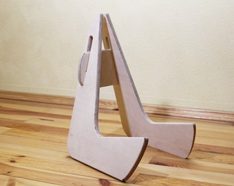 Wooden Guitar Stand Etsy