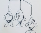 Three Wire Fish - Catch of the day  - Wall Art