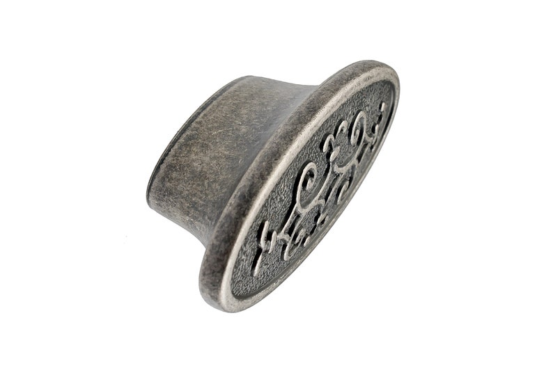 AMDECOR Unique REAL SILVER Coated Vintage Antique Silver weathered Classic Royal Victorian Style Drawer Cabinet Pull knob HardwareDecorative