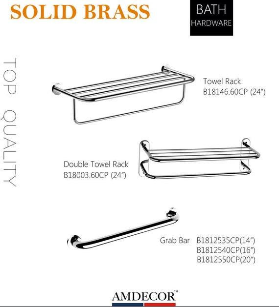 Amdecor Modern Bath Accessory Sets Bathroom Shelf Hardware Towel Rack Organizer Storage