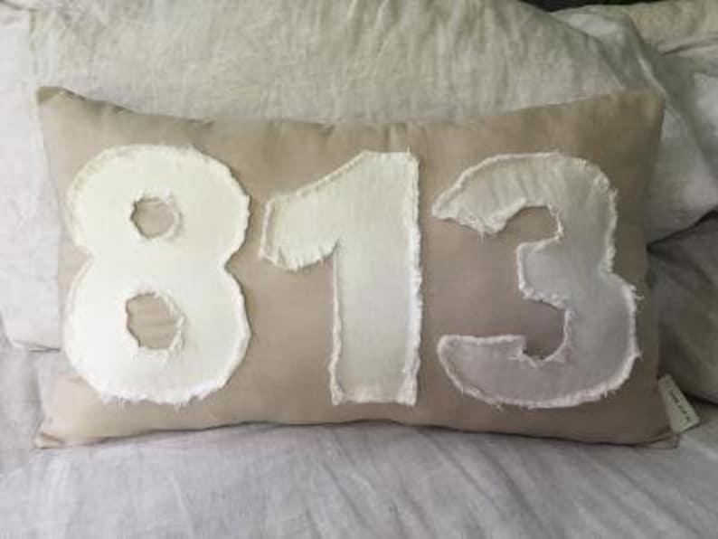 Custom Area Code Number Pillow