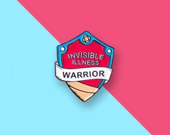 Invisible Illness warrior enamel pin badge - Mental Health Awareness - Anxiety Pin - Depression Pin - Mental Health Pin