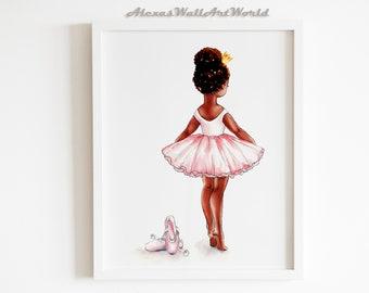 Black Ballerina Art Etsy