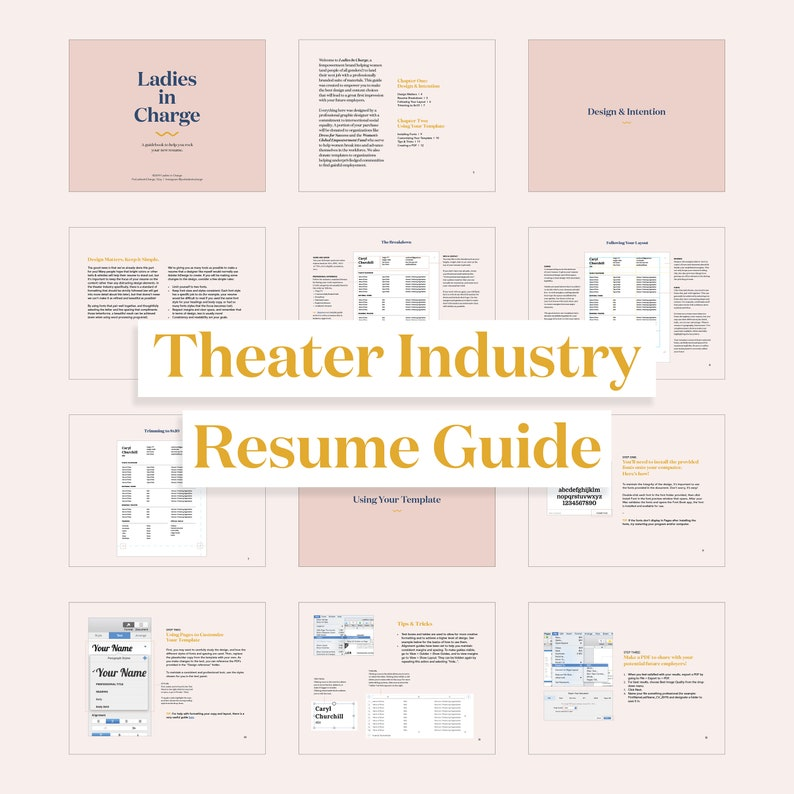 Mac Pages Resume /& Headshot Template for Actors Theater CV Audition Materials Dancers Theater Industry Guide Singers