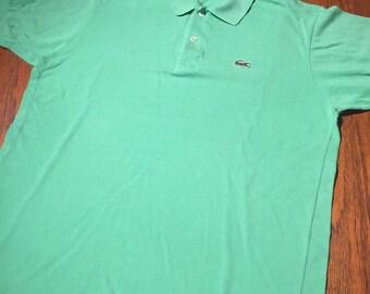 53e2a473dfc8 Lacoste Vintage Polo Lacoste 5 Size L Rare Bright Green