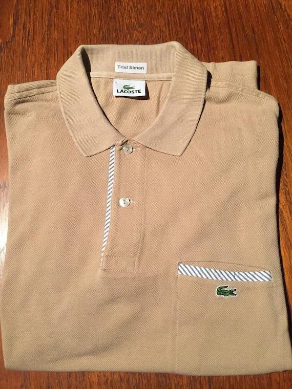 super tanie moda aliexpress Vintage Lacoste Polo shirt Lacoste 5 Size L Rare Beige Trixl Simon