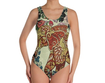 0557a58a3b589 India Inspired Elephant in Jungle - One-Piece Swimsuit