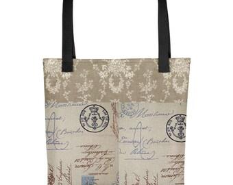 bcfdc9c6f1ea Toile Vintage French Tote bag