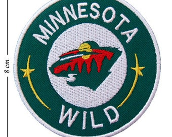 new product 2f964 ea3fa Minnesota Wild Embroidered Iron On Sew On Patch
