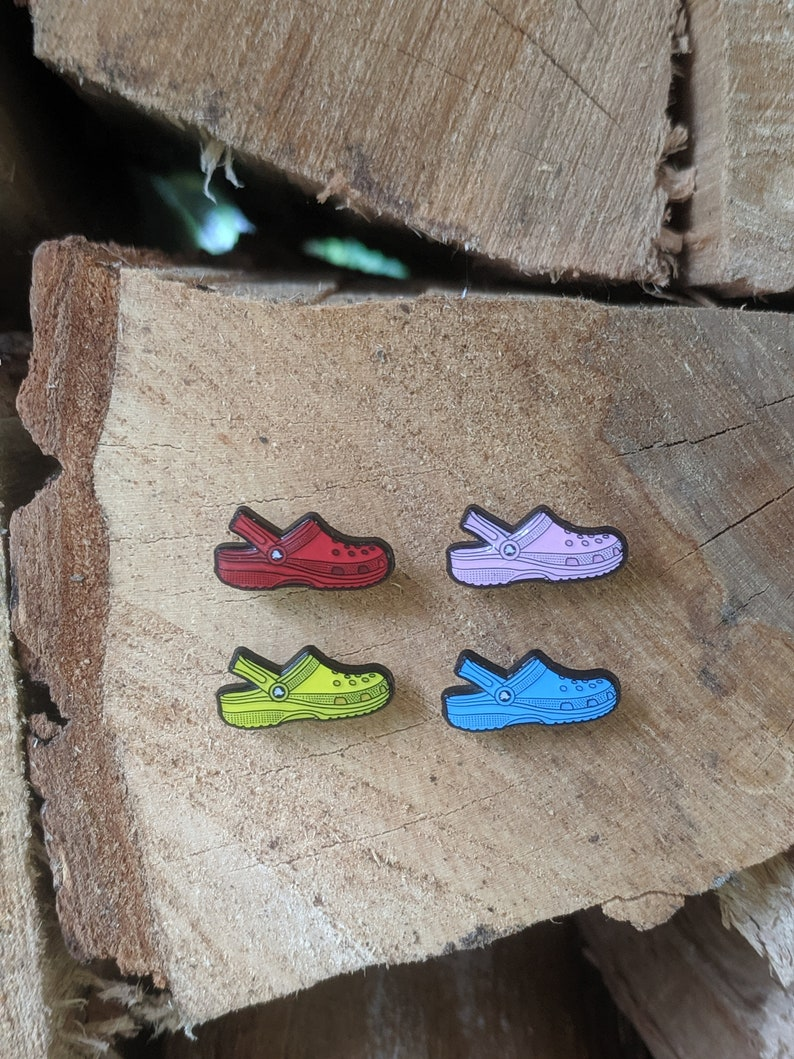 Croc Enamel Pin Rainbow Pack