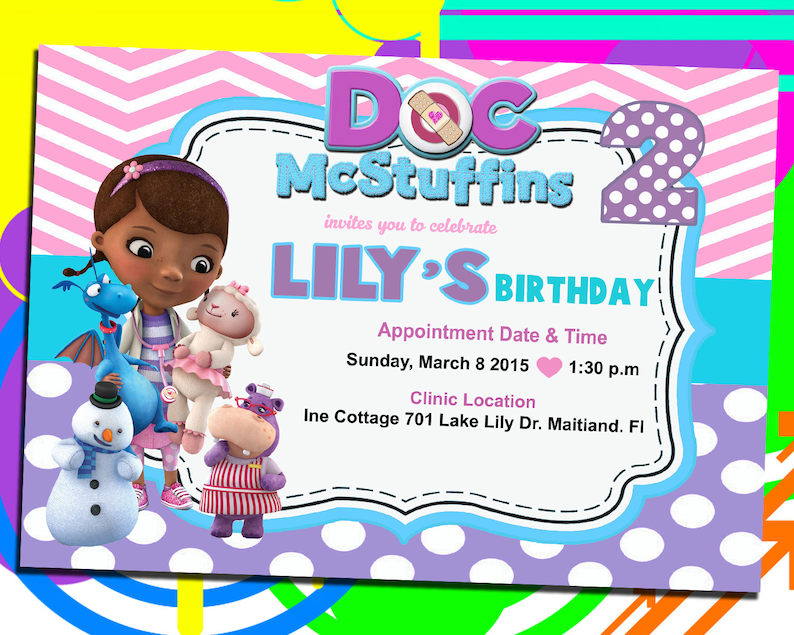 graphic regarding Doc Mcstuffins Printable Invitations identify Document McStuffins Invitation, Document McStuffins Electronic Birthday Invitation, McStuffins Birthday Invitation. Printable Invite, Electronic Record.