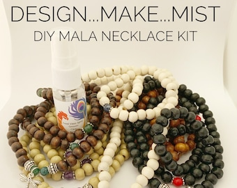 Design..Make..Mist - DIY Necklace Kit - Create Your Own Mala Necklace - DIY Kit - 108 Beads - Prayer Beads - Custom Mala Necklace Kit