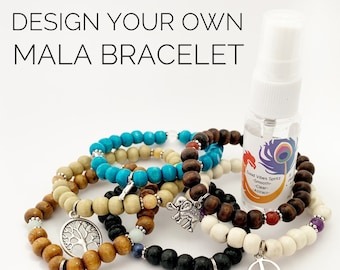 Design Your Own Mala Bracelet - 27 Beads - Prayer Beads - Intention Bracelet - Simple Reminder