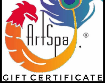 Gift Certificate to Spend at www.theartspa.com / Perfect Last Minute Gift